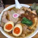 オランダ軒 - 醤油チャーシューメン 大盛り(味薄め) 1350円+ 味玉 100円