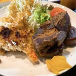 washokuokaki - 三元豚バラ肉と大根の甘辛煮&ポテトサラダのパン粉焼き