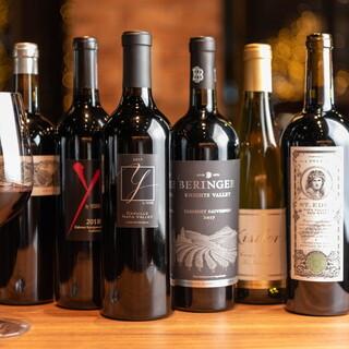 充実したラインナップのカリフォルニアワイン