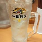 日高屋 - ウォッカソーダ割270円(税込:以下同)