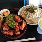 そば切り すず庵 - 唐揚げ丼セット(¥900)