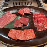 焼肉 ジャンボ はなれ - 「黒毛和牛ランチセット」5000円