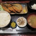 炉端かば - ・「アジフライ3枚定食(¥850)」