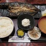 炉端かば - ・「塩サバ一本焼き定食(¥950)」