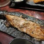 炉端かば - ・「塩サバ一本焼き定食(¥950)」のアップ。