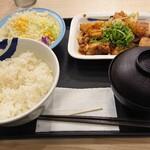 松屋 - 鶏のじゃがバター炒め定食ライス大盛