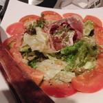 14555021 - パルマ産生ハムのサラダ(ハムもトマトもおいしかった)