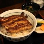 稲毛屋 - 2012.8 関西風うな丼上ご飯大盛り(2,650円)肝吸い、香の物つき