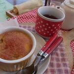 14555773 - リンゴ畑のお茶セット(リンゴマフィンとアップルティーのセット)750円