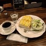 カフェ・ラパン - タマゴトーストモーニングセット650円