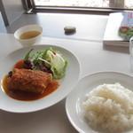 越後しなのがわバル - 妻有産ポークの八海山ビール煮込み(1400円) 12.08.28.