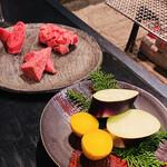 145575168 - お野菜は宮崎産の肉厚な佐土原茄子と、北海道産のじゃがいも・インカのめざめ。