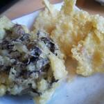 花がき - イトヨリと檜原舞茸の天ぷらセット