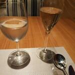 レストラン アロム - 乾杯スパークリングはクレマン