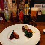 くろさわ東京菜 - 料理写真:前菜2種盛り イチローズモルトが気になる( ゚ェ゚)