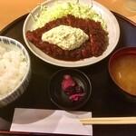 とんかつの藤 - 味噌マヨチキンカツ膳¥800