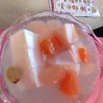 チャイナ厨房盧山 - デザートの杏仁豆腐