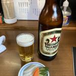 ばん - ビール赤星480円