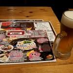 うどん居酒屋 江戸堀 - 生ビール