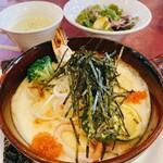 145618347 - 小玉醸造の秋田味噌と魚介の和風クリームドリア