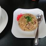 麺家 鶏処 - セットの半チャーハン