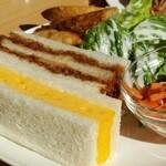 Cafe茶珈 - 下段:お食事プレート