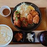 ガスト - 2021年2月 から好し相盛り定食(もも3個+甘とろ3個) 890円+税