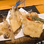 志趣饗粋 蕎麦 鷲ひら - 天ぷら(宮城県産サヨリ、野菜5品)