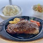 清海 - 料理写真:「ビーフペッパーステーキ(200g)」@1340+「Aセット」@380+「ライス大盛り」@50(税別)