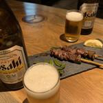 炉端と肉割烹 笹揶 - おかわりは瓶ビール