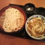 丸亀製麺 - カレーうどん(並)380円ざるうどん(大)380円 (2012.08.29)