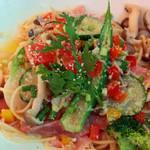 びいどろ - 料理写真:生ハムと彩り野菜のチーズマリナ-ラ(チーズ塩味)。<2012_08>