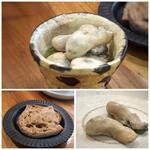 町屋 あかりや - *牡蠣(5粒)は大粒でオリーブオイルのお味付けもよく、美味しい。 残ったオイルは、パンと共に頂きました。