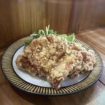 町屋 あかりや - ◆若鶏唐揚げ山椒風味(1個350円×2)