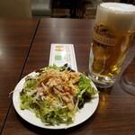 バーミヤン - 料理写真:生ビール中・よだれ鶏