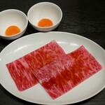 恵比寿焼肉 うしごろバンビーナ - ☆サーロインのすき焼き(^o^)丿☆