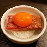 恵比寿焼肉 うしごろバンビーナ - ☆濃厚な黄身と一緒に(*^_^*)☆