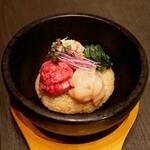 恵比寿焼肉 うしごろバンビーナ - ☆〆の厳選和牛と海鮮の石焼リゾット(*^_^*)☆