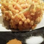小樽食堂 - トウモロコシのかき揚げ