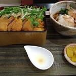 熟成かつ 天膳 - 料理写真:純けいかつ丼とおろしそば