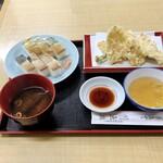 天ぷら食堂 魚徳 - ばってら定食 1200円