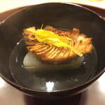 東茶屋 なかむら - 石川 鰤炭火焼と大根の利尻昆布出汁椀 →椀物の昆布出汁はやはりキレが…ただ今回の椀の方が前回よりも個人的には好みかと。
