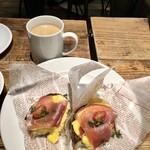 Italian Kitchen VANSAN - イタリア産生ハム&スクランブルエッグトーストサンドモーニング429円