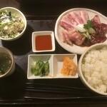 ISSA - 私が頼んだ宮崎3種盛りランチ1380円(2020.12.21)