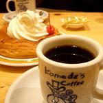 コメダ珈琲店 - 料理写真:コーヒーのカップも可愛い ブレンド 400円