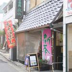 しもきた茶苑大山 - お店は、下北沢駅北口から歩いてすぐ。喫茶の入り口はこの裏手です。