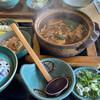 方六庵 - 料理写真:味噌煮込み定食。きしめんの味噌煮込みです。