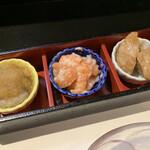 和風料理 つくし館 - 口取り三種とおすすめ小鉢