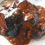 中国料理 富美 - なすびと豚ミンチいため