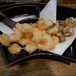 かれんす居酒屋 - 蛸と海老の天ぷら